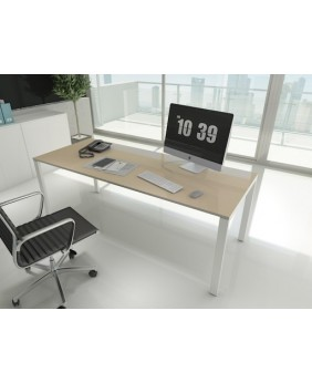 Mesa de oficina Ipop acabado alto brillo Luxe