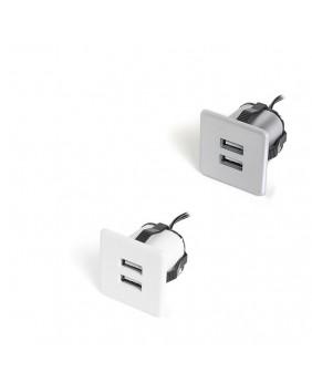 Cargador USB con perforación de la mesa incluida