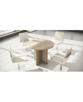 Mesa de reunión redonda con pata de cruz NEW PANO