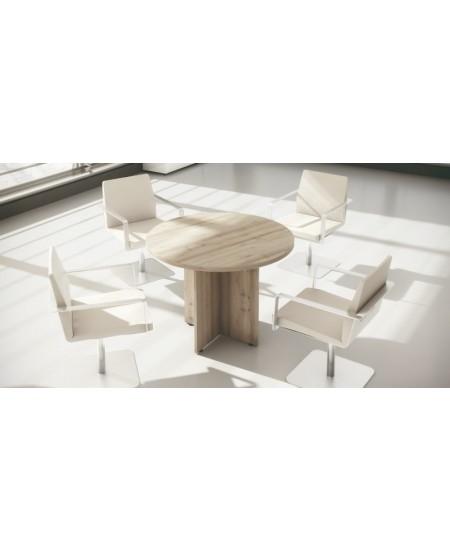 Mesa reuniones redonda con pata de cruz NEW PANO
