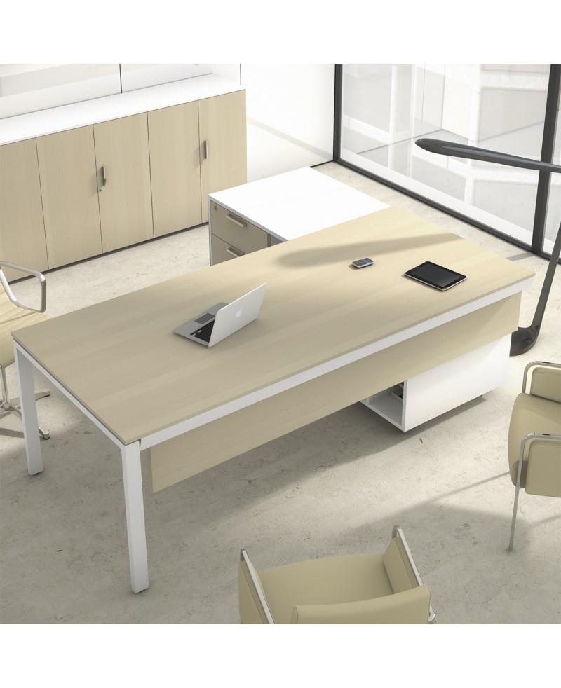 PACK 4 - Mesa de dirección + Silla de dirección + 2 sillas confidente