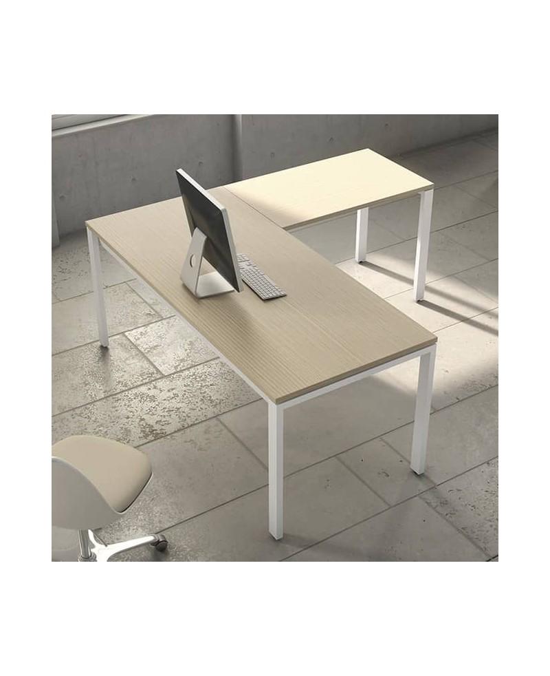 Mesa con extensión L • Mesa de oficina con extensión L IPOP bilami...