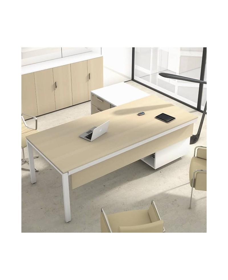 Mesa con mueble ala • Mesa de oficina con mueble ala IPOP bilaminada