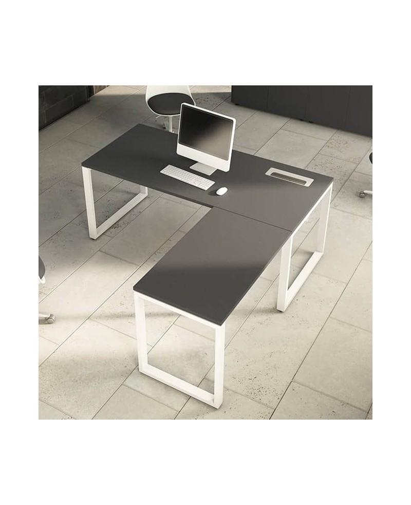 Mesa con extensión L • Mesa de oficina con extensión L OPOP Luxe