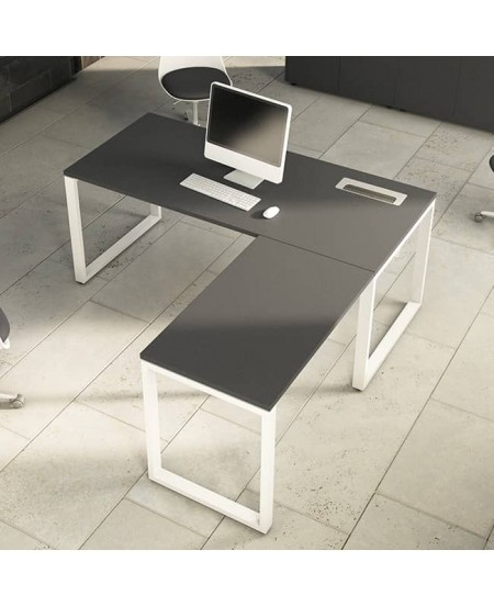 Mesa de oficina con extensión L OPOP Luxe