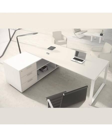Mesa de oficina con mueble ala OPOP Luxe