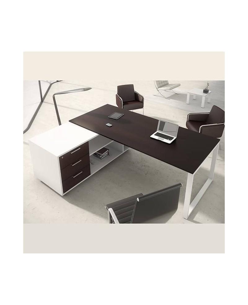 Mesa con mueble ala • Mesa de oficina con mueble ala OPOP bilaminada