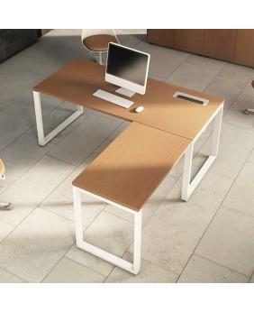 Mesa de oficina con extensión L OPOP bilaminada
