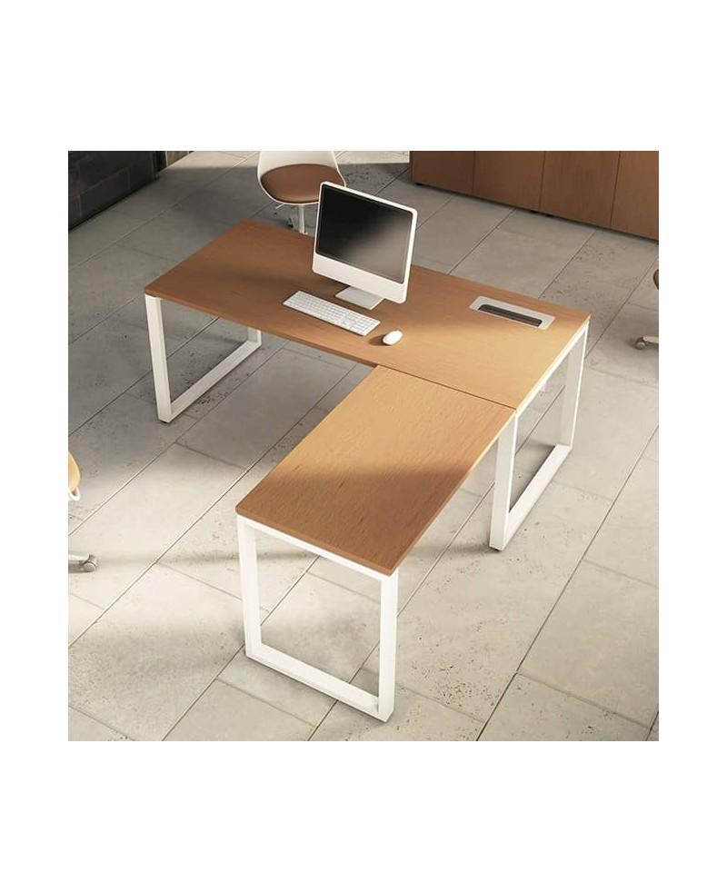 Mesa con extensión L • Mesa de oficina con extensión L OPOP bilami...