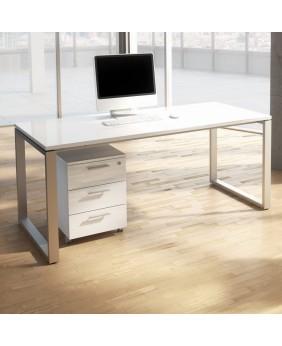 Mesa de oficina Opop con acabado alto brillo Luxe