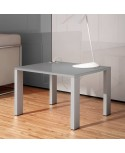 Mesa de espera acabado aspecto madera