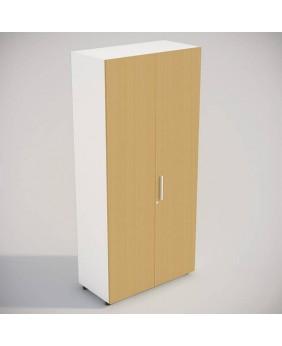 Armario para oficina cerrado aspecto madera