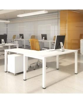 Mesa de oficina Nova con extensión ala