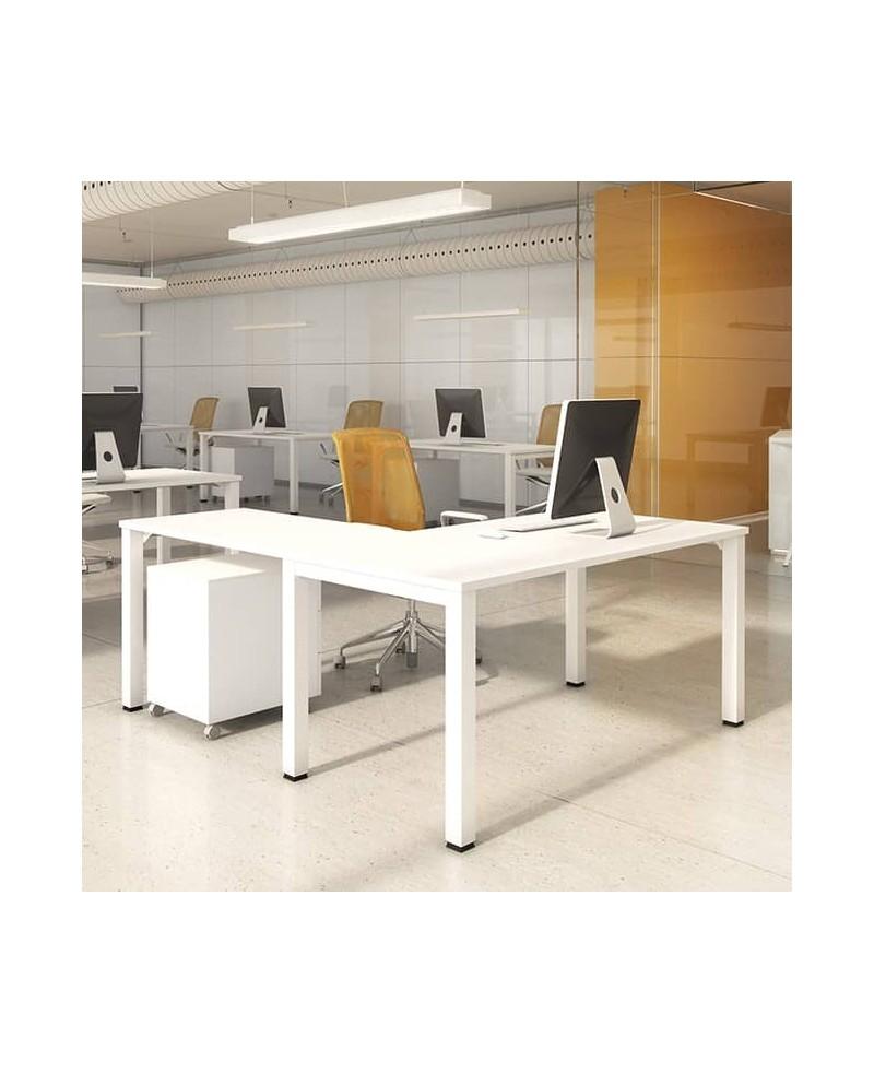 Mesa con extensión L • Mesa de oficina con extensión L NOVA