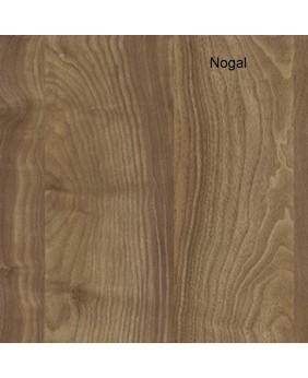 Mesa de oficina Ipop acabado aspecto madera con mueble ala