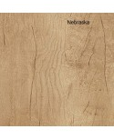 Mesa de oficina Opop acabado aspecto madera con extensión ala
