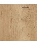 Mesa de oficina Opop acabado aspecto madera con mueble ala