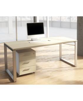 Mesa de oficina Opop acabado aspecto madera